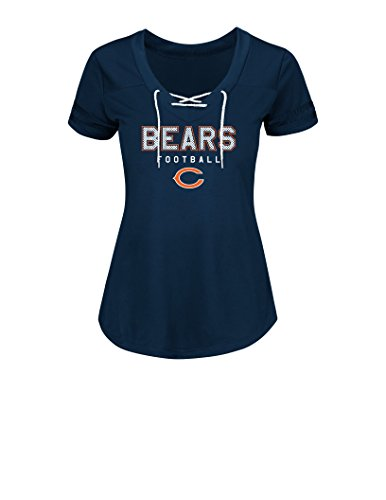 NFL Chicago Bears Women's True Pride Synthetic Shirt, Large, Traditional Navy/White