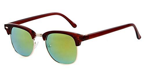 Vendimia sin Montura A Lujo Sol de Las Manera Gafas de Medio D Calientes Hombres KOMNY de Gafas de vidrios Leopardo Unisex de de de conducción la Mujeres Eyewears la los Ventas 7RxwP6
