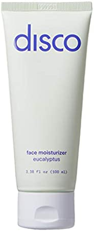Face Moisturizer by Disco for Men, Hydrating, Anti-Aging Formula with Vitamin C, All Natural and Paraben Free,