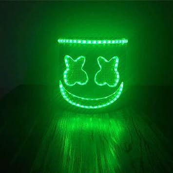 Yukun Máscara Disfraz de máscara de luz emitiendo voz de Nightclub de Halloween Máscara de luz