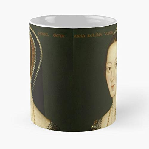 Queen Anne Cup Saucer - Anne Boleyn Queen Of England King Henry Viii Ceramic Coffee Mugs, Funny Gift