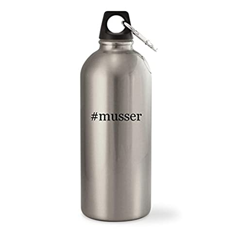 #musser - Silver Hashtag 20oz Stainless Steel Small Mouth Water Bottle - Musser Good Vibe