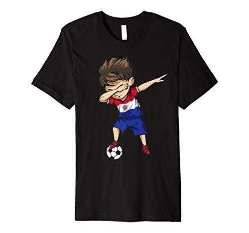 Dabbing Soccer Boy Paraguay Jersey Shirt - Paraguay Football ()