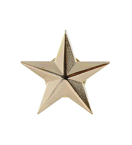 a339257a5ff 3D 5 Point Gold Star Lapel Pin (1 pack) - Import It All