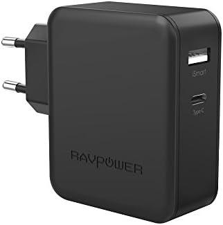 Cargador Tipo C y USB 36W RAVPower Cargador USB C, Cargador Type C ...