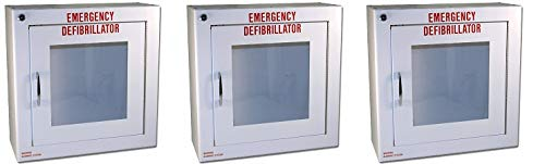 First Voice TS145SM-1 AED Basic Wall Standard Cabinet with Alarm, 13.5'' W x 13'' H x 5.25'' D (3-(Pack))