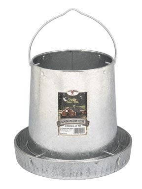 Miller 9112 12lb Galvanized Hanging Poultry Feeder
