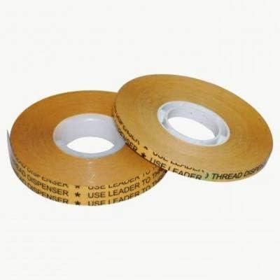 de grosor medio 0,08 mm ATG System 1 rollo: 19 mm x 33 m x STICKERSLAB GHIRARDI S-978//R cinta TNT biadhesiva de tela no tejida Reverse