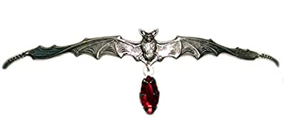 Vampire Bat Headpiece with Red Stone