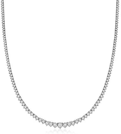 Ross-Simons 3.00 ct. t.w. Diamond Tennis Necklace in Sterling Silver