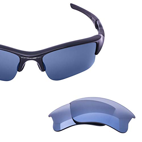 LenzFlip Replacement Lenses for Oakley FLAK JACKET XLJ Sunglass - Gray Black Polarized with Silver Mirror (Gray Silver Sunglasses Mirror)
