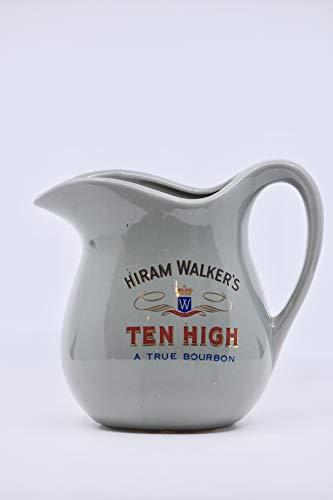 Hiram Walker - Ten High : A True Bourbon - 32 Ounce Bar Pitcher - Made in USA - Collectible