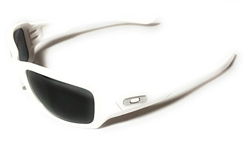 Oakley  Men's MPH Fives Squared Polarized Polished White W/ Grey - Oakley Mph