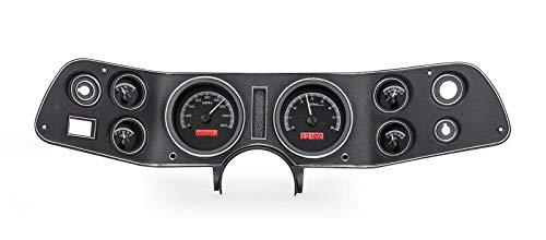 Dakota Digital 70 - 81 Chevy Camaro VHX System Analog Dash Gauges Black Alloy Red VHX-70C-CAM-K-R