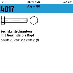 1 Sechskantschrauben ISO 4017 A4-80 M14x80 A4 Niro Edelstahl