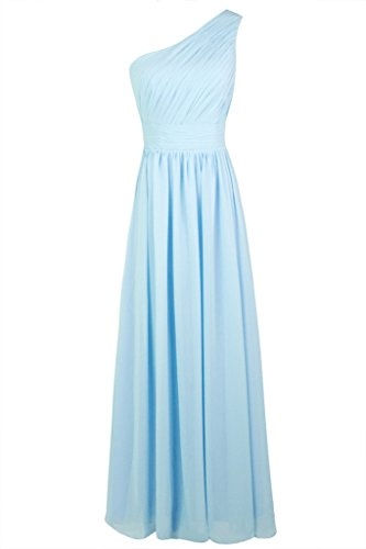 Dressever Women's Long One Shouoder Bridesmaid Asymmetric Prom Evening Dress