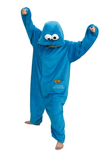 Cookie Monster Kigurumi- Halloween Costume Animal Onesie Pajama Small