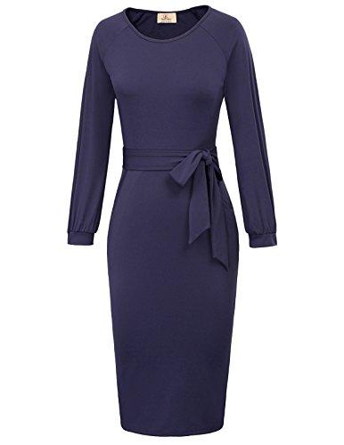 GRACE KARIN Women's Retro Bodycon Below Knee Formal Office Pencil Dress Size...