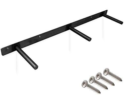 32-inch Heavy-Duty Floating Shelf Bracket Rustproof Solid Steel with Black Powder Coating. 6