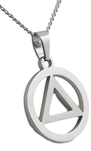 12 Step Recovery Pendant Stainless Steel Necklace AA Anniversary Gifts Unisex