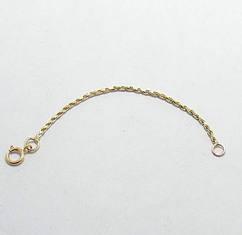 Hemau 1.25mm Solid Real 10K Yellow Gold Chain Necklace Extender Pendant | Model NCKLCS - 2526 | ()