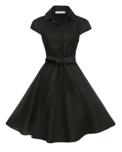 50s style dress with sleeves - 6