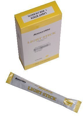 "Ameriglo 6"" Industrial Grade Safety Light Sticks, 12 hour Tactical: Yellow (10 Pack) by AmeriGlo"