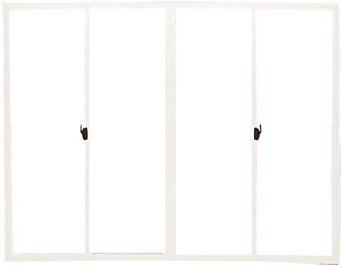 返品・キャンセル不可品 メーカー受注生産品 4枚建 引違い窓 ポリカ 樹脂板 簡単すっきり内窓 楽窓 楽窓2 SEIKI セイキ販売 W2400mm×H2050mmまでサイズオーダー ポリカ-中空(4mm) 外ホワイト・内ホワイト