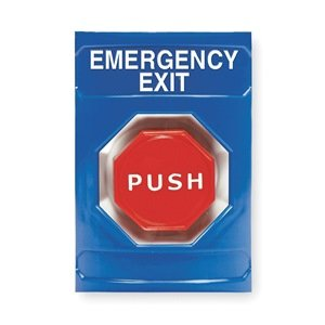 Emergency Exit Push Button Station, Blue
