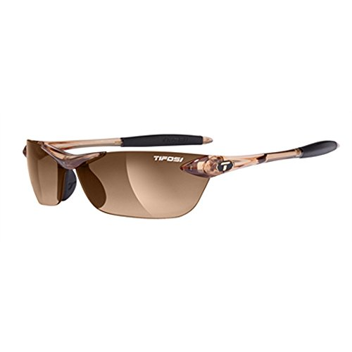 Tifosi Core Polarized Sunglasses - Tifosi Womens Seek 0180404779 Wrap Sunglasses,Crystal Brown Frame/Brown Gradient Lens,One Size