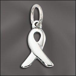 Sterling-Cancer Awareness Ribbons .925 Sterling Silver