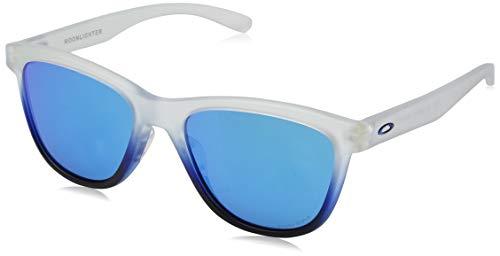 (Oakley Women's Moonlighter Non-Polarized Iridium Round Sunglasses, SAPPHIRE MIST, 53.0 mm)