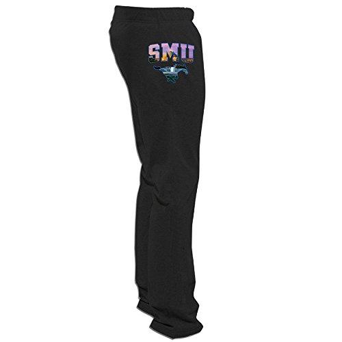 ElishaJ Men's Southern Methodist University Custom Workout Trouser Black L (Alex And Ani Teenager)