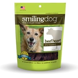 Smiling Dog Dry-Roasted Dog and Cat Treats, Beef Heart, My Pet Supplies