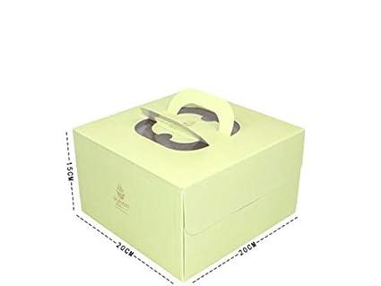 HOUHOUNNPO Cajas para Pasteles, Caja de empaque Cuadrada de 6 Pulgadas para Hacer Mousse de