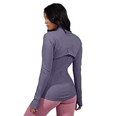 90 Degree By Reflex Women's Lightweight, Full Zip Running Track Jacket at Women's Clothing store