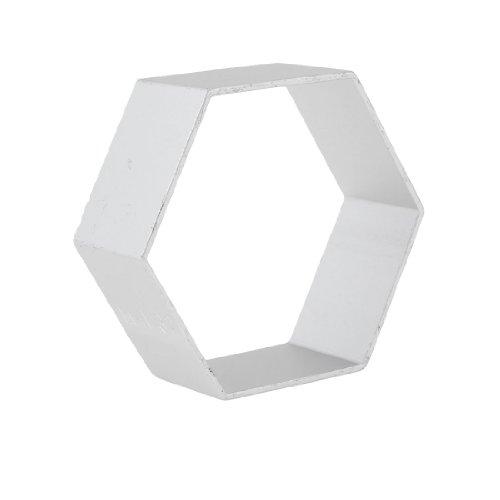 Uxcell a13050400ux0752 Hexagon Shape DIY Maker Sandwich Toast Cutter Mold Silver Tone