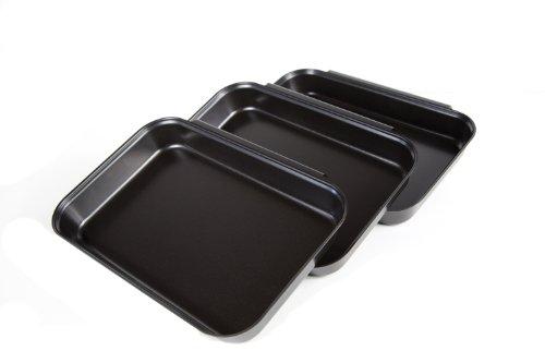 Fox Run 44914 Non-Stick Breading Set, Carbon Steel, 3-Piece