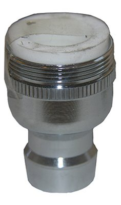 "LARSEN SUPPLY CO 09-9231 15/16-27"" Male x 55/64-27"" Female Chrome Plated Dual Thread Snap Nipple with Aerator from Larsen Supply"