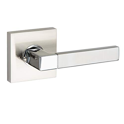 AVALON 0510 - Contemporary / Modern Door Handles / Levers (Privacy / Passage) - Satin Nickel - Polished Chrome - Passage Avalon Set Lever