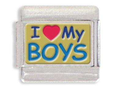Love Italian Charm (I Love My Boys Italian Charm Bracelet Link)