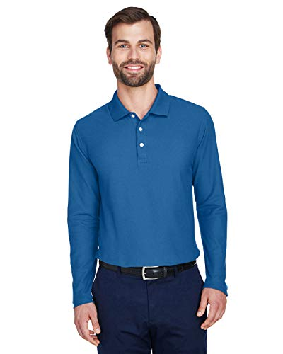 DJ MENS DRYTEC LS POLO (FRENCH BLUE) (XL)