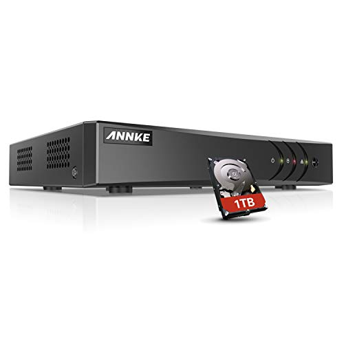ANNKE 1TB Hard Drive + 8 Channel CCTV DVR 1080P Lite Digital Video Recorder...