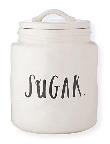 (RAE DUNN Sugar Canister - Stem Print Lettering)