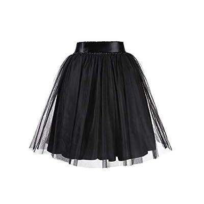 GlorySunshine Women's A Line Princess Tulle Wedding Prom Party Tutu Skirt Printed Ruffles Polka Dot Casual Skirt: Clothing