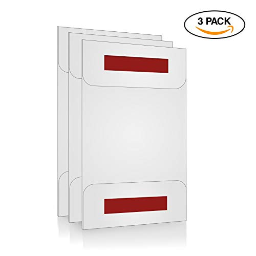 Acrylic Sign Holder/Display 8.5 x 11 or 11 x 8.5 - Sign Holder w/Industrial Strength Adhesive Tape, No Drilling, No Screws, No Mess, Very Simple to Install Either Vertical or Horizontal, 3 Pack
