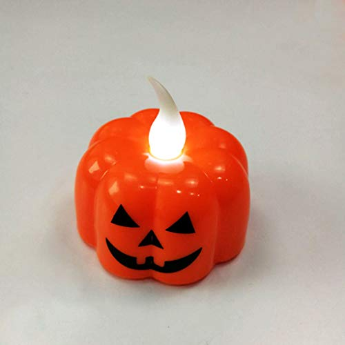 Halloween Decorations Candles Tea Lights, Battery Operated, Flickering Flameless (12PCS) by Friendship Shop (Image #2)