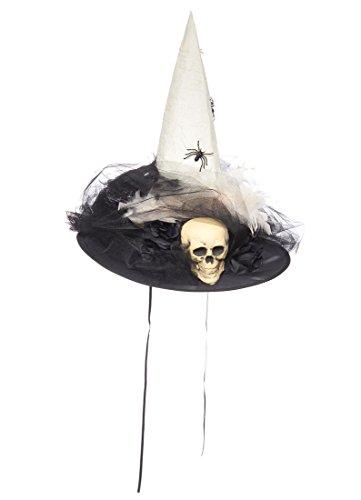 Hocus Pocus Divine Halloween Witch Hat, Ivory Skull (Hocus Pocus Costume Shop)