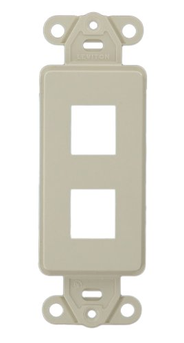 Leviton 41642-T QuickPort Decora Insert, 2-Port, Light Almond