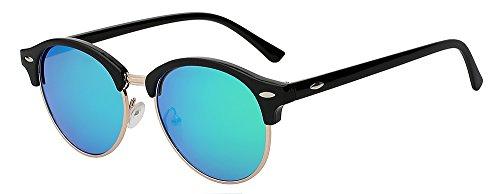 sol Hombre metálico mirror azul de Tonos unisex lente redonda pink TIANLIANG04 medio Eyewear gafas sol gafas polarizadas remache marca diseñador bastidor de de Mujer de clásico posterior espejo ZRwpYq